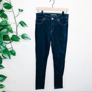 Express High Rise Dark Wash Legging Skinny Jeans 8